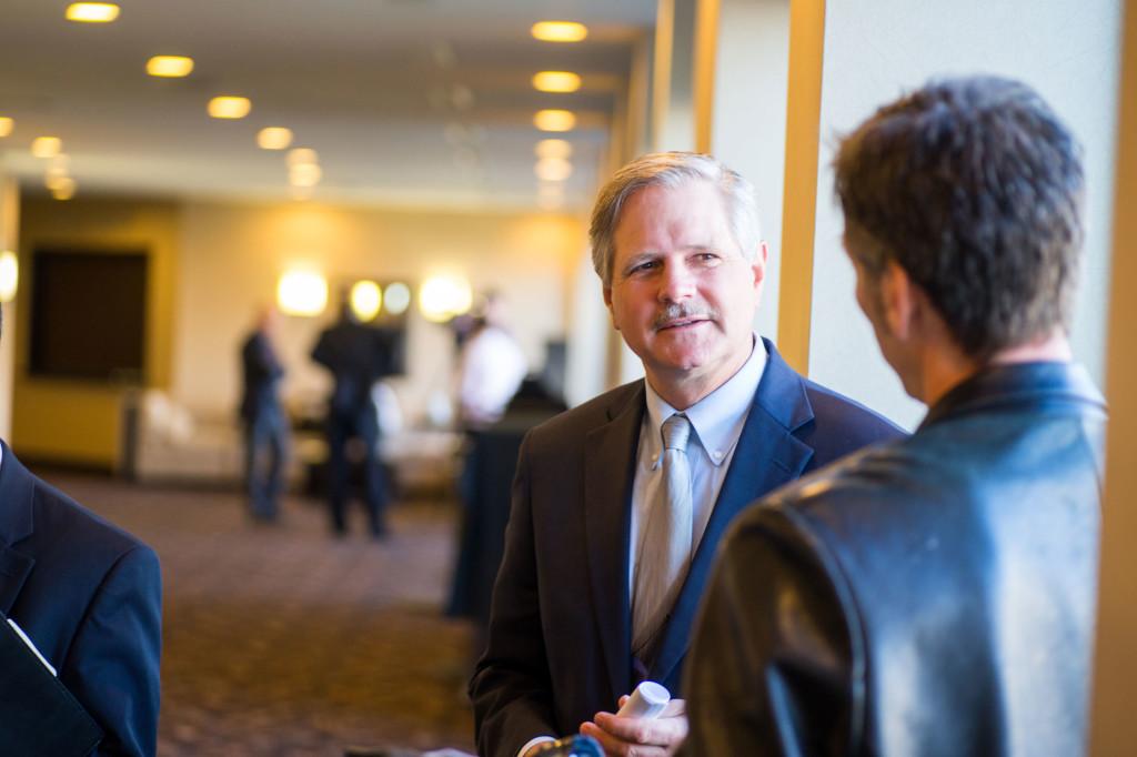 US Senator John Hoeven (left). Photo by Paul Flessland